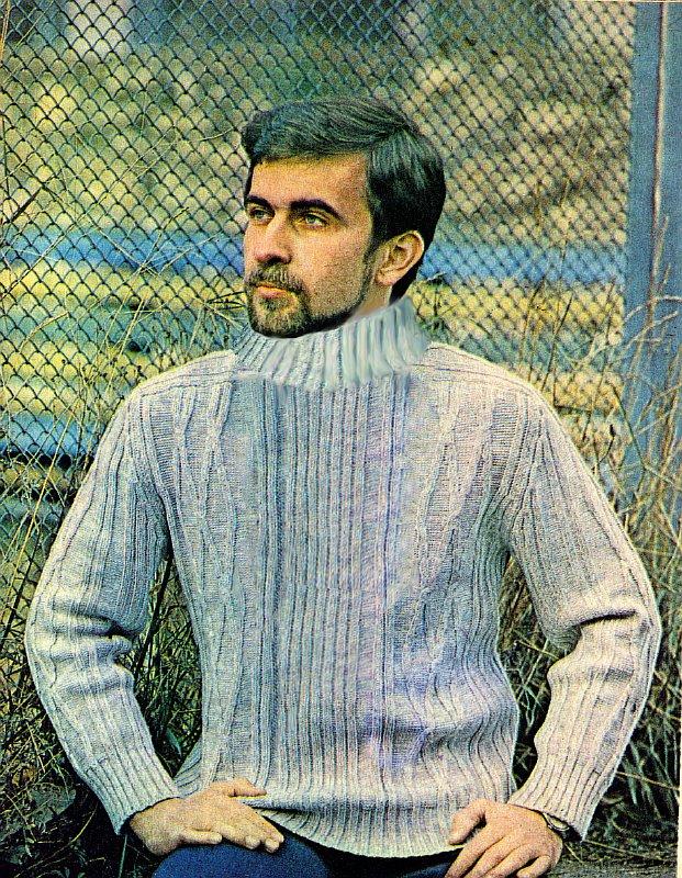 Вязание свитер мужской