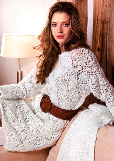 Схемы вязания платья на спицах