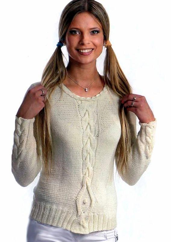 Вязание женских свитеров спицами 12