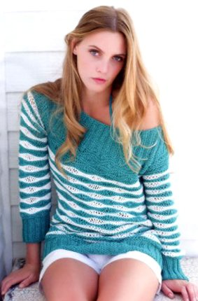 Красивый вязаный пуловер 1