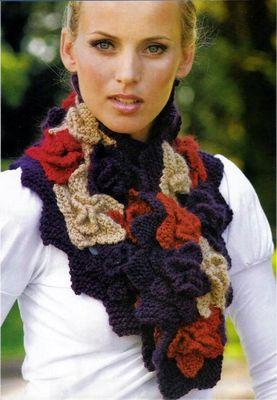 Вязание детского шарфа на спицах