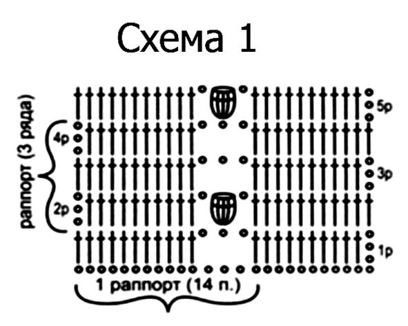 Описание: Схемы вязания кофты.