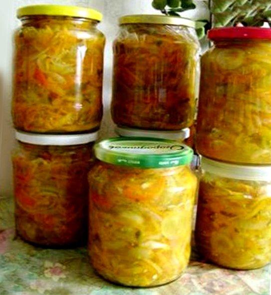 Овощные салаты заготовки на зиму