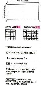 Схема вязания балеро спицами 3