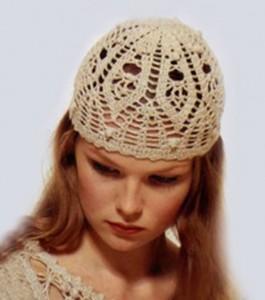 Схемы элегантных вязаных шапочек 3