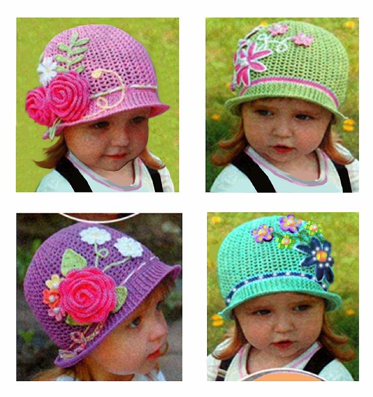 Ассортимент вязаных шапочек
